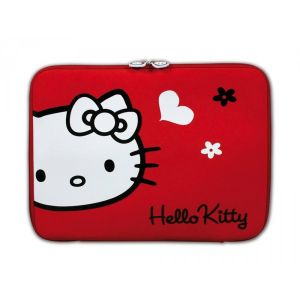 Housse Ordinateur Portable Hello Kitty Skin Red Flowers 13,3