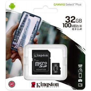 Carte Micro SD 32Go Canvas Kingston