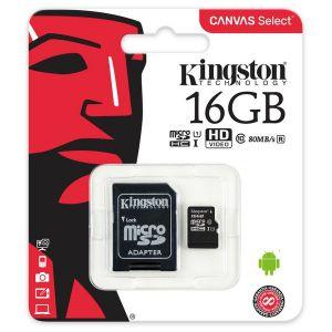 Kingston Carte MicroSDHC Class 10 - 16Go