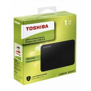 Disque Dur Externe TOSHIBA Canvio Basics 1To USB 3.0